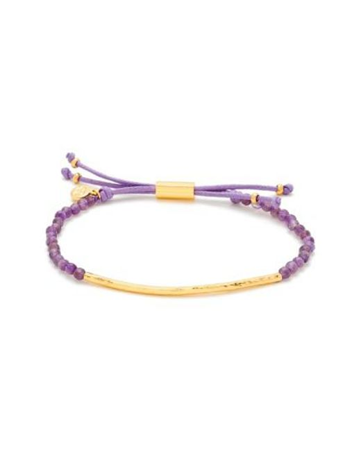 Gorjana   Metallic 'taner' Semiprecious Stone Bracelet - Amethyst/ Gold   Lyst