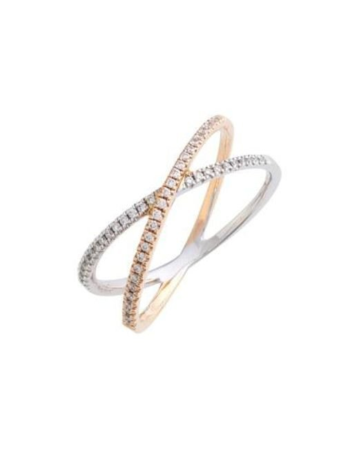Bony Levy - Metallic Stackable Crossover Diamond Ring (nordstrom Exclusive) - Lyst