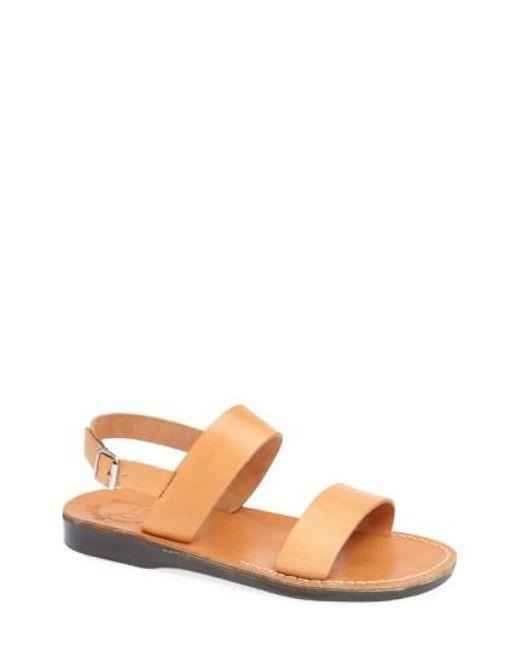 Jerusalem Sandals - Brown 'golan' Leather Sandal for Men - Lyst