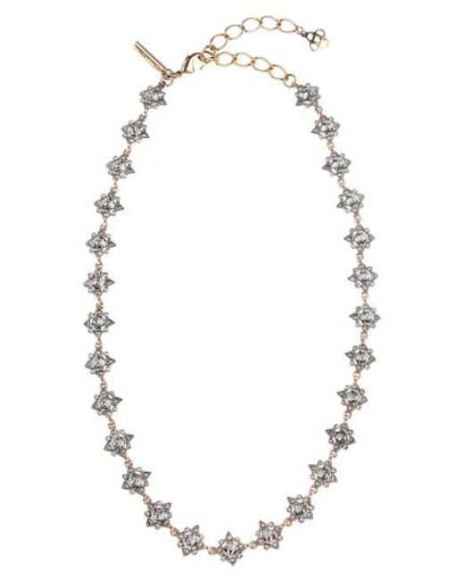 Oscar de la Renta | Black 'delicate Star' Swarovski Crystal Collar Necklace | Lyst