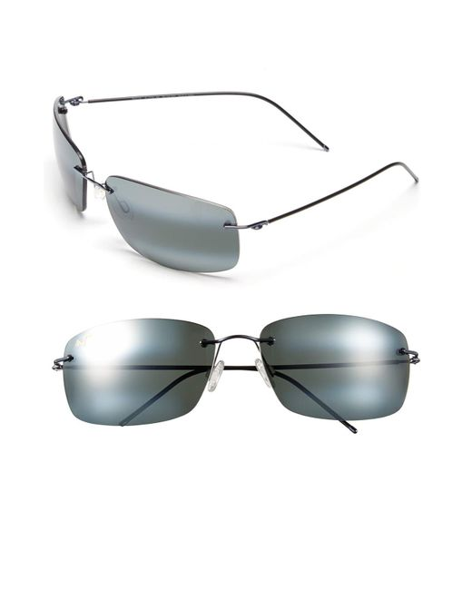 Maui Jim Gray Frigate Polarizedplus2 65mm Sunglasses - Gunmetal Blue/ Neutral Grey for men