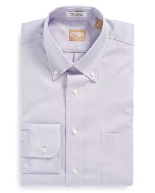 Gitman Brothers Vintage - Purple Regular Fit Pinpoint Cotton Oxford Button Down Dress Shirt for Men - Lyst