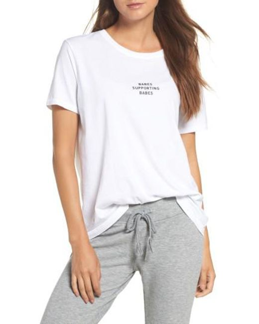 BRUNETTE the Label | White Babes Supporting Babes Tee | Lyst