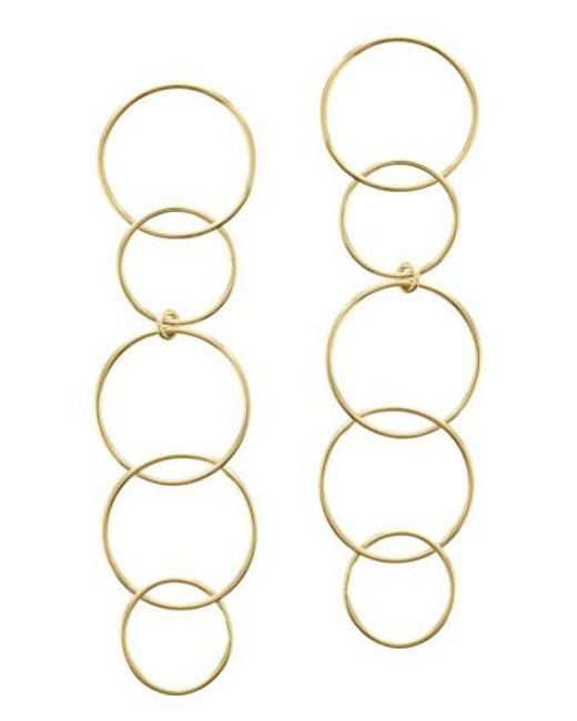 Lana Jewelry - Metallic Open Disc Linear Drop Earrings - Lyst