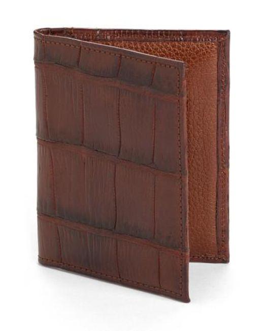 Martin Dingman - Brown Jameson Matte Finish Genuine Alligator Leather Wallet for Men - Lyst