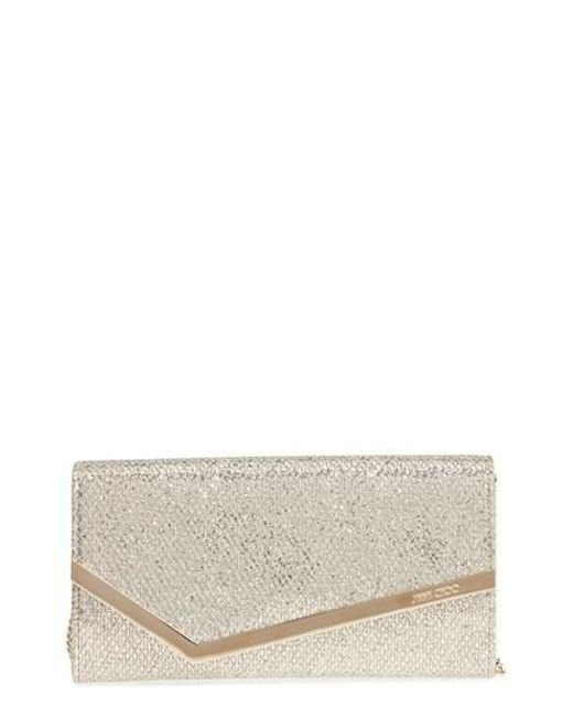 Jimmy Choo Emmie glitttered clutch Outlet Hot Sale Outlet Many Kinds Of Cheap Inexpensive Clearance Pick A Best Explore Cheap Price jQSmqp
