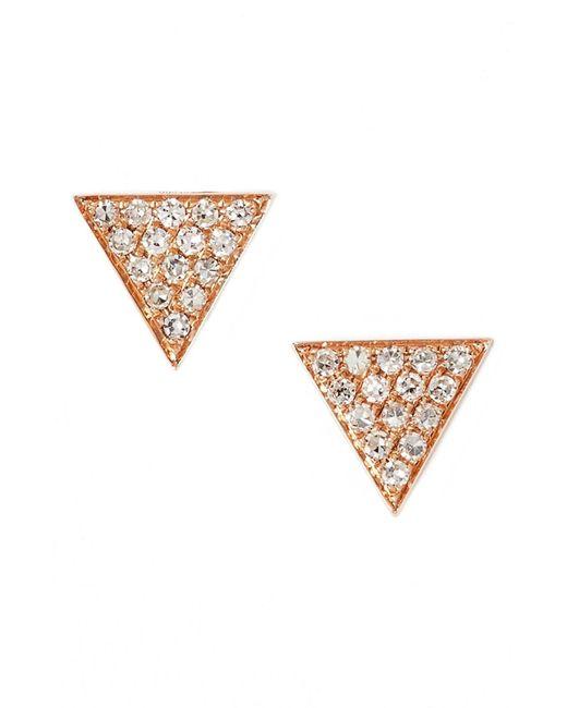 Dana Rebecca Metallic 'emily Sarah' Diamond Pavé Triangle Stud Earrings (nordstrom Exclusive)