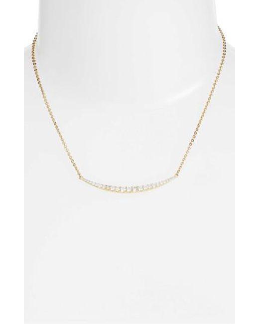 Melinda Maria | Metallic Crescent Pendant Necklace | Lyst