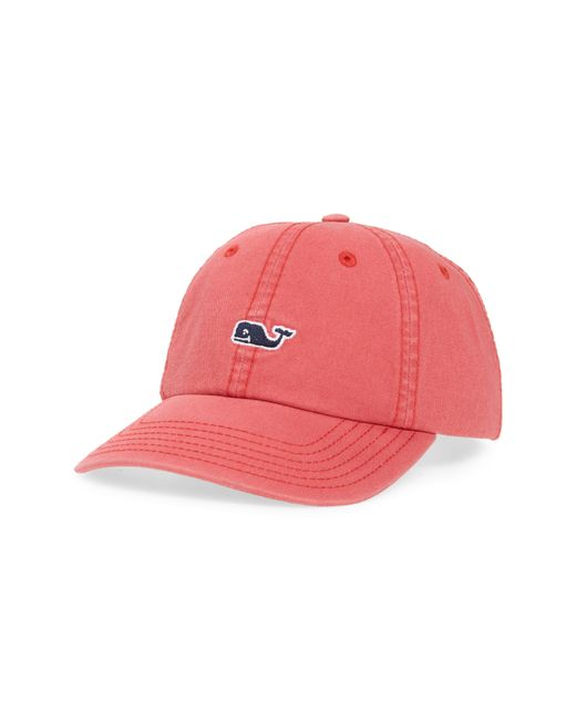 4522a9a1bcd Men's Red Whale Logo Baseball Cap