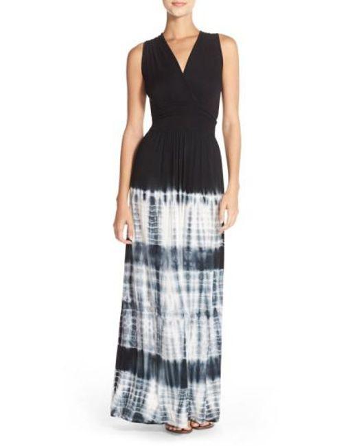 Fraiche By J | Black Ombré Jersey Maxi Dress | Lyst