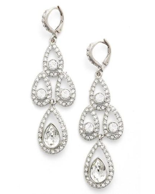 Givenchy - Metallic Crystal Chandelier Drop Earrings - Lyst