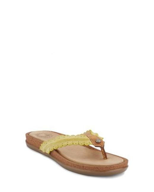 G.H. Bass & Co. | Yellow G.h. Bass And Co. Samantha Thong Sandal | Lyst