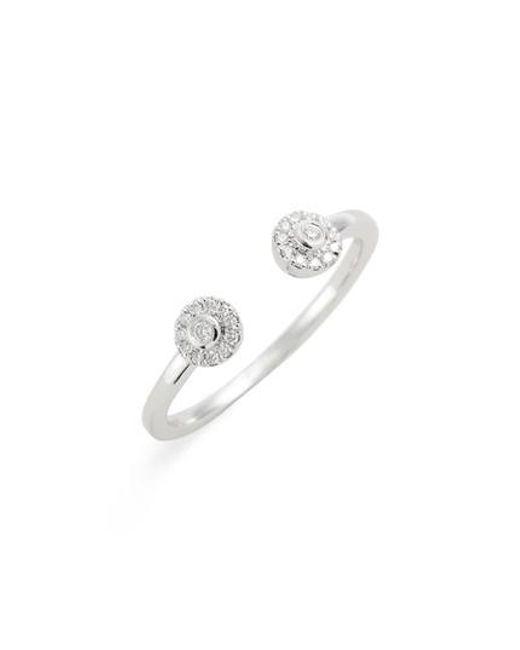 Dana Rebecca - Metallic Lauren Joy Open Diamond Ring - Lyst