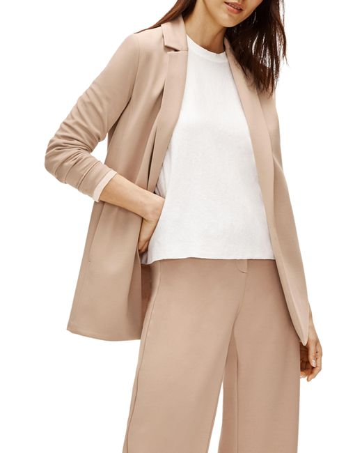 Eileen Fisher Multicolor Notch Collar Jacket