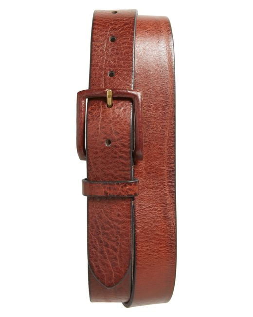 Frye Red Flat Panel Leather Belt for men