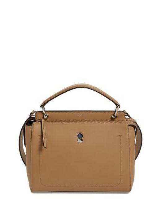 Fendi - Multicolor  dotcom  Leather Satchel - Lyst 2bf4536e95