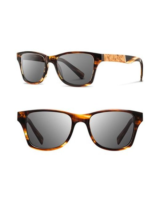 Shwood | Brown 'canby' 53mm Polarized Wood Sunglasses for Men | Lyst