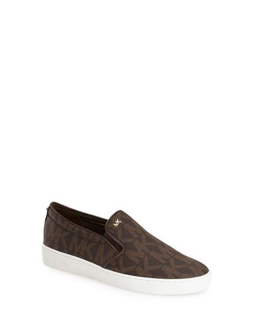 MICHAEL Michael Kors | Brown Keaton Slip-on Sneaker | Lyst