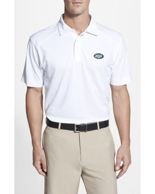 Cutter & Buck | White 'New York Jets - Genre' Drytec Moisture Wicking Polo for Men | Lyst