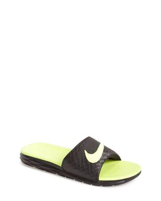 Nike   Green 'benassi Solarsoft 2' Slide Sandal for Men   Lyst
