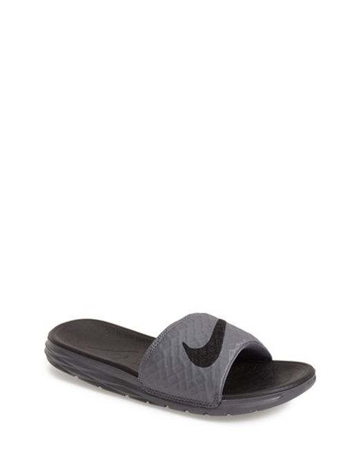 Nike   Gray 'benassi Solarsoft 2' Slide Sandal for Men   Lyst
