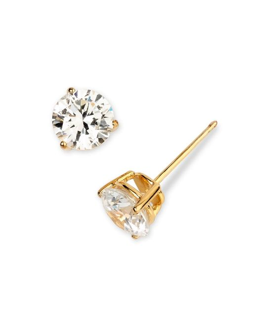 49aeec77ab1a60 ... Nordstrom - Metallic 3ct Tw Cubic Zirconia Earrings - Lyst