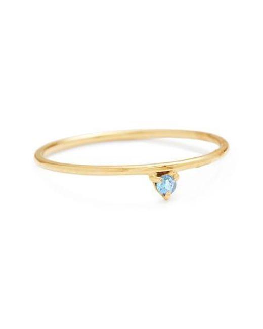 Wwake   Metallic One Step Sapphire Ring   Lyst