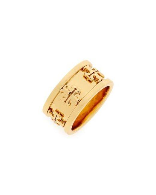 Tory Burch | Metallic Raised Logo Ring | Lyst