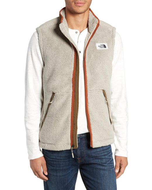 The North Face - Multicolor Campshire Fleece Vest for Men - Lyst 2c54d2d02
