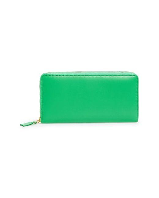 Comme des Garçons | Green Leather Continental Long Wallet for Men | Lyst