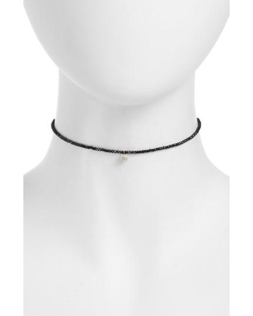 Meira T - White Diamond Charm Choker Necklace - Lyst