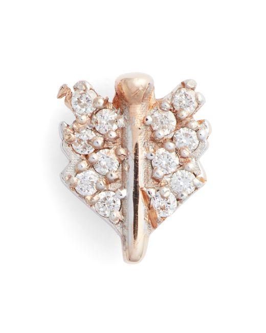 Kismet by Milka - Multicolor Diamond Mini Quill Stud Earring - Lyst