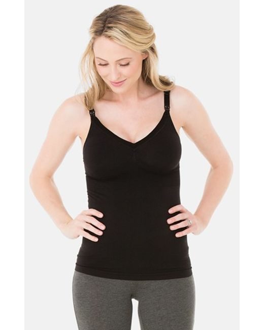 Ingrid & Isabel | Black Ingrid & Isabel Seamless Maternity/nursing Tank | Lyst