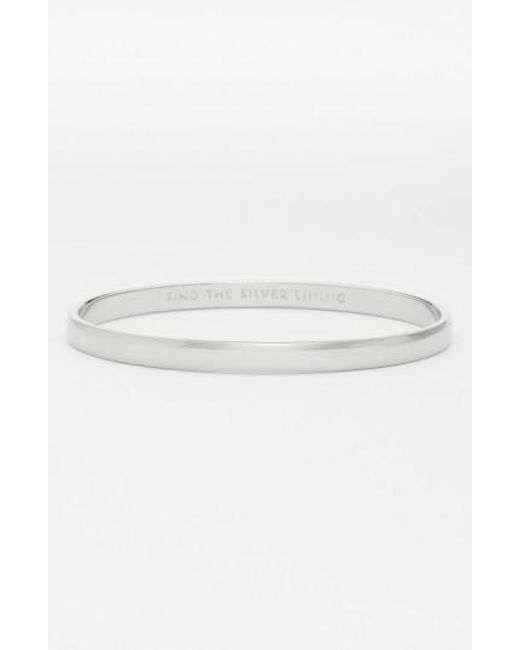 Kate Spade | Metallic 'idiom - Find The Silver Lining' Bangle | Lyst