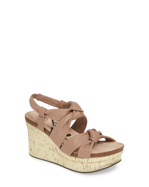 Otbt Brown Far Side Knotted Wedge Sandal