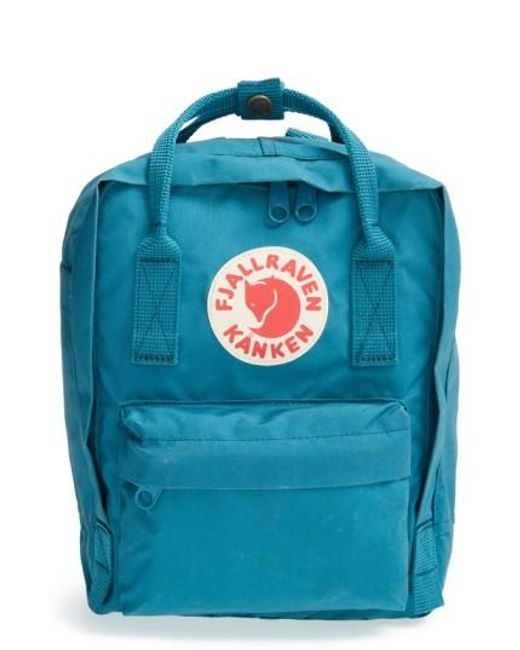 Fjallraven   Blue Mini Kanken Water-Resistant Backpack   Lyst