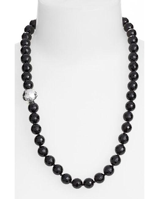 Simon Sebbag | Black Stone Beaded Necklace | Lyst