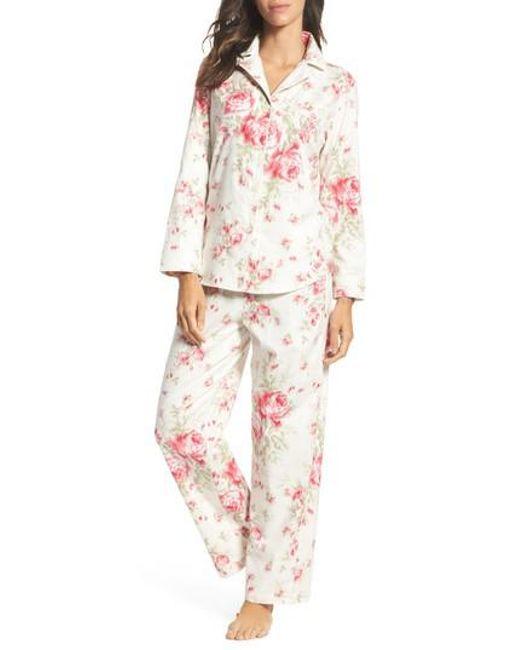 Lauren by Ralph Lauren | Pink Cotton Pajamas | Lyst