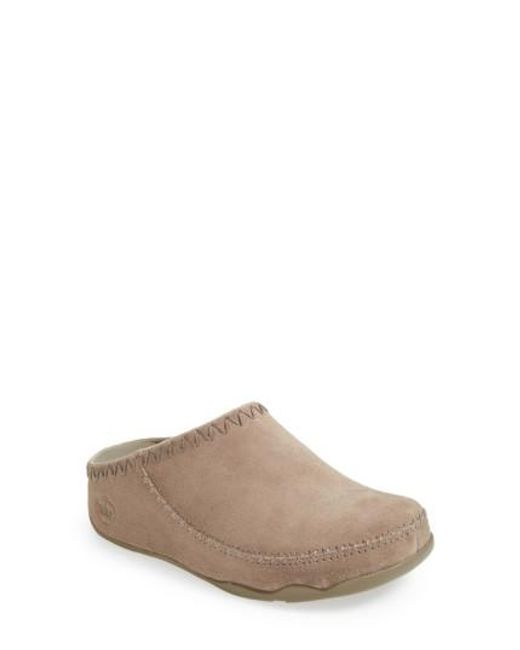 Fitflop | Natural Gogh Suede Moccasins | Lyst