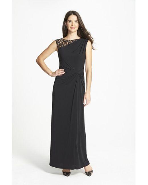 Ellen Tracy | Black Column Gown | Lyst