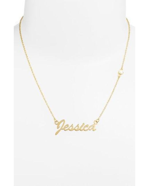 Argento Vivo | Metallic Birthstone & Personalized Nameplate Pendant Necklace (nordstrom Online Exclusive) | Lyst