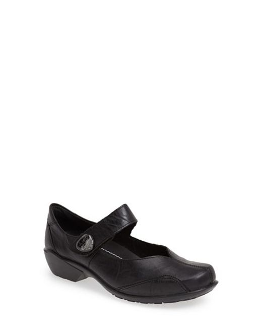 Romika | Black Romika 'city Light 87' Leather Mary Jane Flat | Lyst