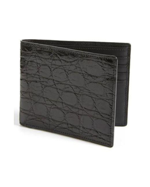 Boconi   Black Crocodile Wallet for Men   Lyst