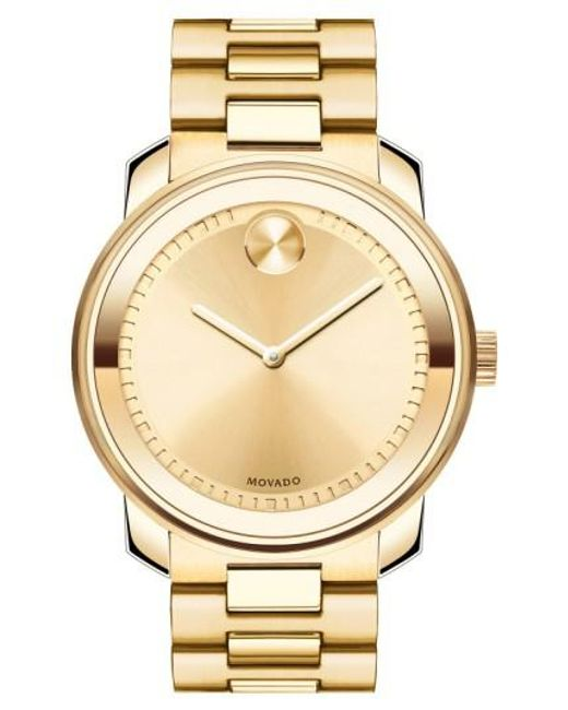 Movado | Metallic 'bold' Bracelet Watch for Men | Lyst
