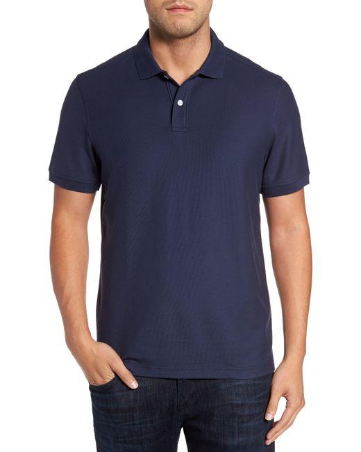 Nordstrom Blue Regular Fit Piqué Polo for men