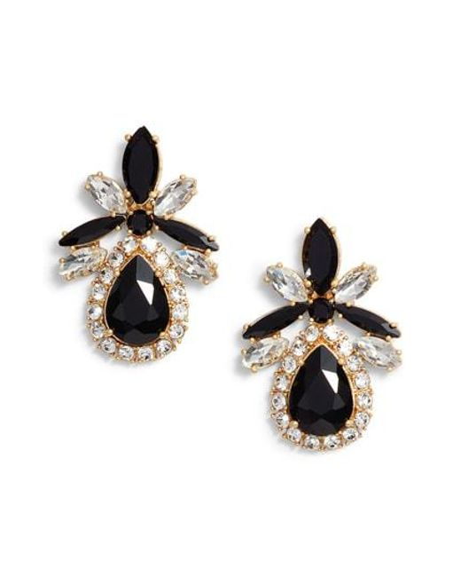 Kate Spade Black Statement Stud Earrings Lyst