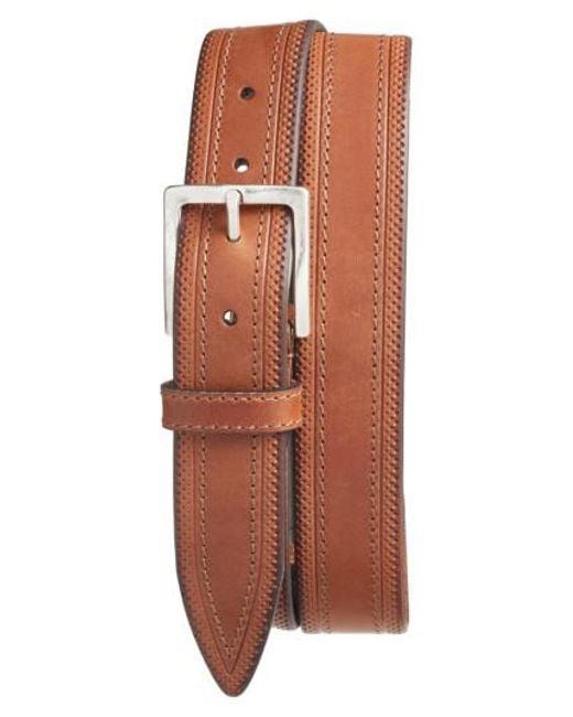 Martin Dingman | Brown Walton Leather Belt for Men | Lyst
