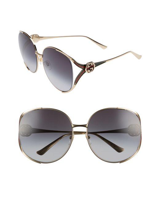 Gucci - Multicolor 63mm Open Temple Sunglasses - Lyst