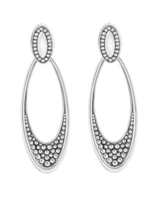 Lagos | Metallic 'signature Caviar' Omega Drop Earrings | Lyst
