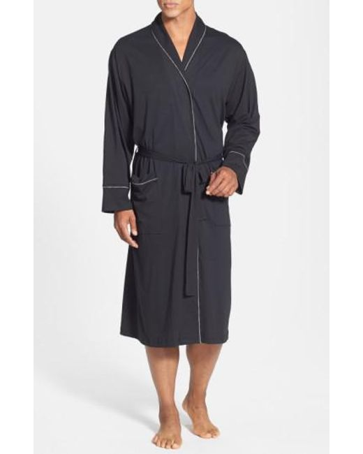 Daniel Buchler - Black Peruvian Pima Cotton Robe for Men - Lyst